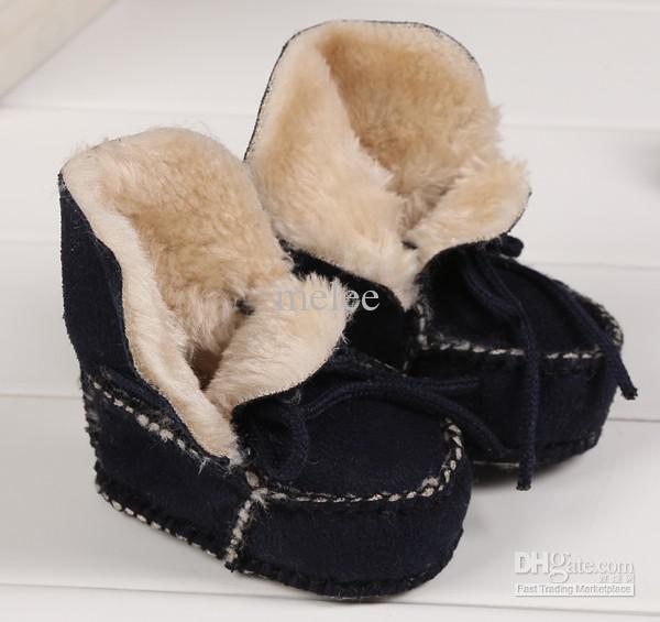 Big Discount Winter Baby Wanderschuhe Infant Erste Wanderschuhe Lederstiefel kinder Boot Baby 100% Handgemachte Schuhe 0-1 T, 3 Farben für wählen