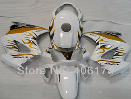 Wholesale Vfr Interceptor - Free shipping,VFR800 02-08 fairing set For Honda Interceptor VFR 800 2002-2008 Flame and White Motorcycle Fairings Free shipping