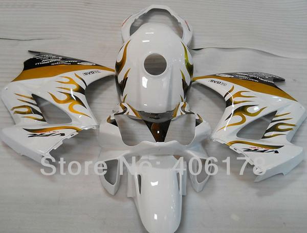 Spedizione gratuita, VFR800 02-08 carenatura per Honda Interceptor VFR 800 2002-2008 Fiamma bianco e fiamme del motociclo Spedizione gratuita