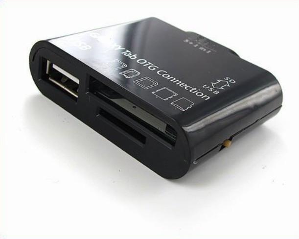 5 I 1 USB-kamera OTG-anslutningssats för Samsung Galaxy Tab 10.1 7