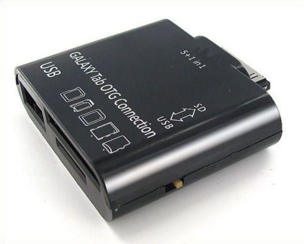 삼성 갤럭시 탭 10.1 7 인치 1 인치 USB 카메라 OTG 연결 키트에 5 인치 타블렛 P7500 P5100 P6800 P3100 카드 리더기