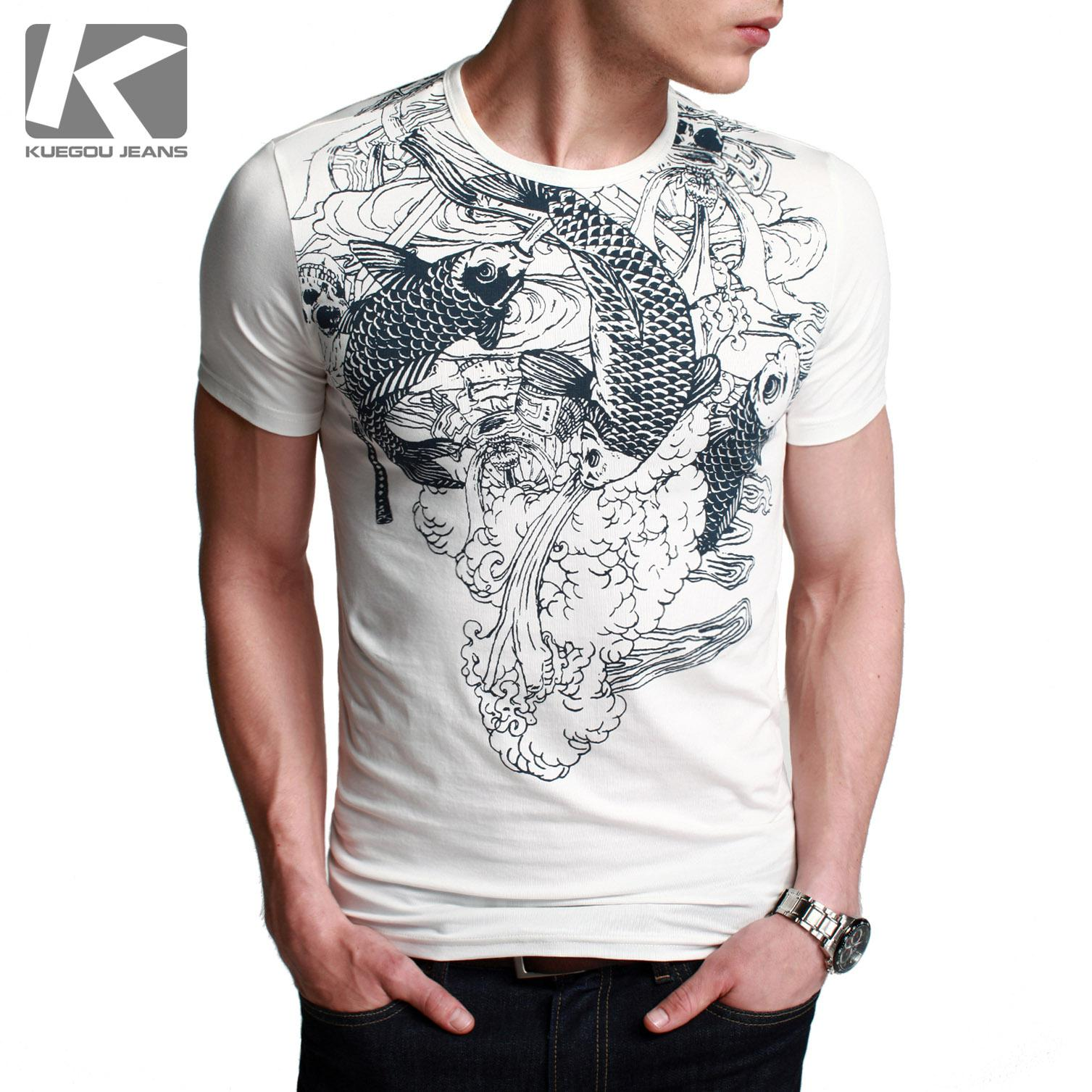 Share Cool Clothes Men's Short Sleeve Tattoos New Big Splash T ...