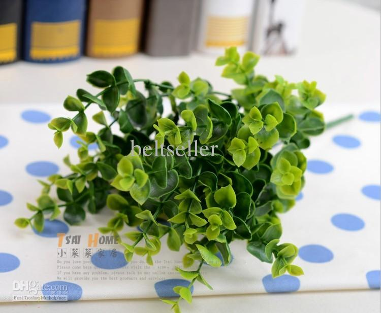 35CM long Simulation Eucalyptus Artificial silk green plants potted plant Artificial Flower home wedding decor