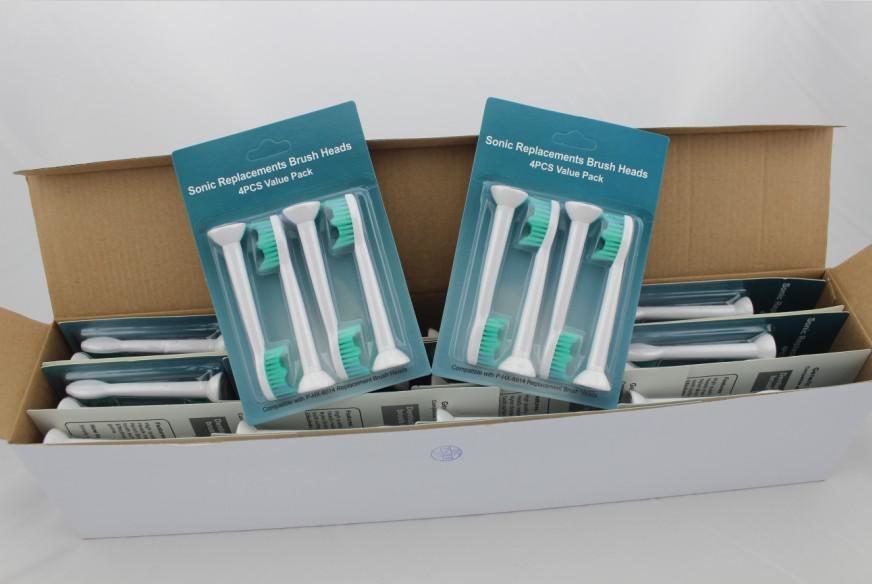 Têtes de brosse à dents électriques chaudes HX6014 Têtes de brosse de remplacement génériques compatibles avec les têtes de brosse P-HX-6014 / HX6013 / HX6011