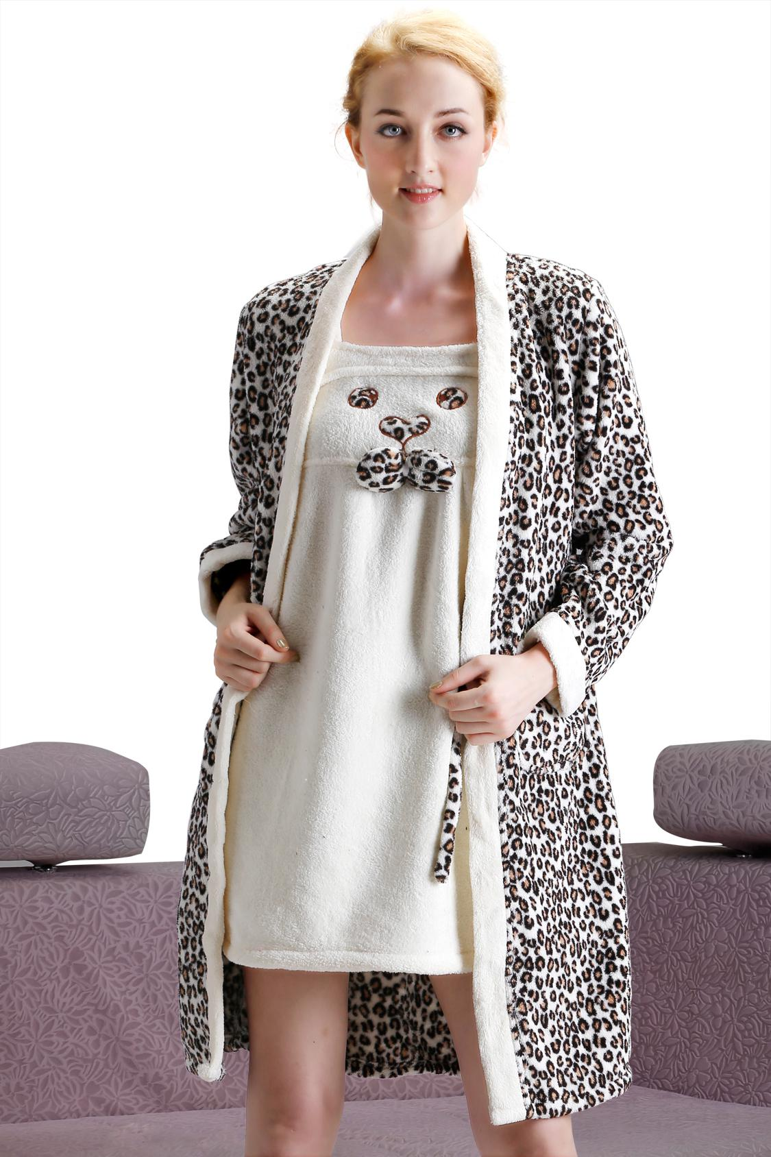 2019 Sexy Women Leopard Long Nightgowns Dress Set Hot Robes Hot Sleeveless  Long Cotton Nightgown Leopard Print Bathrobe Ladies Sleepwear HS13 From  Beauty99 4b9212973