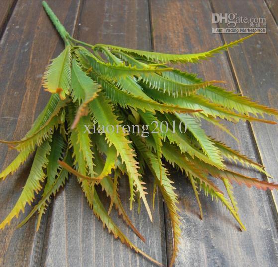 NEW Arrivals 30cm Length Artificial Plastic Plants Simulation Aloe Leaf Fern Cycads Five Stems Bush Flowers