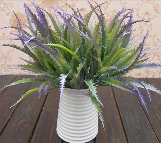 NEW Arrivals 10Pcs 30cm Length Artificial Plastic Plants Simulation Aloe Leaf Fern Cycads Five Stems Per Bush Flowers