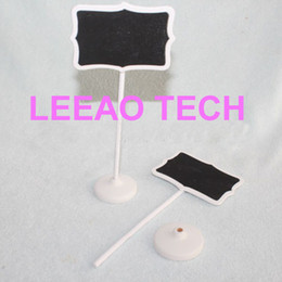 Wholesale Lowest Price Christmas Decorations - Lowest Price 1000pcs lot Fedex Free shipping Wood White Framed Scroll Mini Blackboard Chalkboard Stand Wedding Decoration