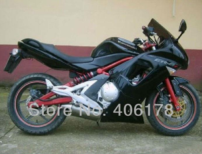 Free shipping,06 07 08 09 10 06-10 fairing kit For Kawasaki ER-6F 2006-2010 Full Black Ninja 650 Motorcycle Bodyworks Fairings