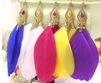Vintage the feather earrings for women female wholesale char...