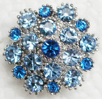 Wholesale flower brooches pins resale online - 12pcs Fashion Crystal Rhinestone Brooches Bridesmaid Girl Flower Wedding Party prom Brooch pin jewelry gift Accessories C664