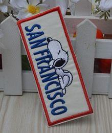 Wholesale San X Wholesale - Wholesales 10 Pieces~Cartoon Dog San Francisco Badge (9.5 x 4cm) Embroidered Iron On Applique Patch (ALG)