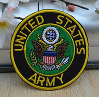 Wholesale badge army - Wholesales 10 Pieces~United States Army Badge (7 x 7cm) Army Patch Embroidered Iron On Applique Patch (ALG)