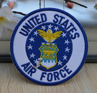 Wholesale United Forces - Wholesales 10 Pieces~United States Air Force Badge (7 x 7cm) Army Patch Embroidered Iron On Applique Patch (ALG)