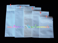 Wholesale Cell Phone Charger Case Wholesale - White Clear Zip Zipper Retail package Packaging bags bag packing for cellpphone cell mobile phone accessories Charger battery case 1000pcs