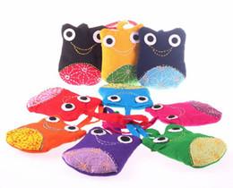 Wholesale Cute Denim Bags - Cute Frog Handmade Handbags Baby Purse Cell phone bag Lady Purse wallet bag bag Messenger Bags 13*10.5cm 10 color u pick
