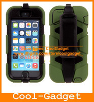 Wholesale Hybrid Case Iphone4 - For iPhone 5 Armor Case Shock Proof Hybrid Heavy Duty Tough Stand Hard Cover for iPhone 5S 4 4G 4S iPhone4 iPod Touch 50pcs lot IP5SC02