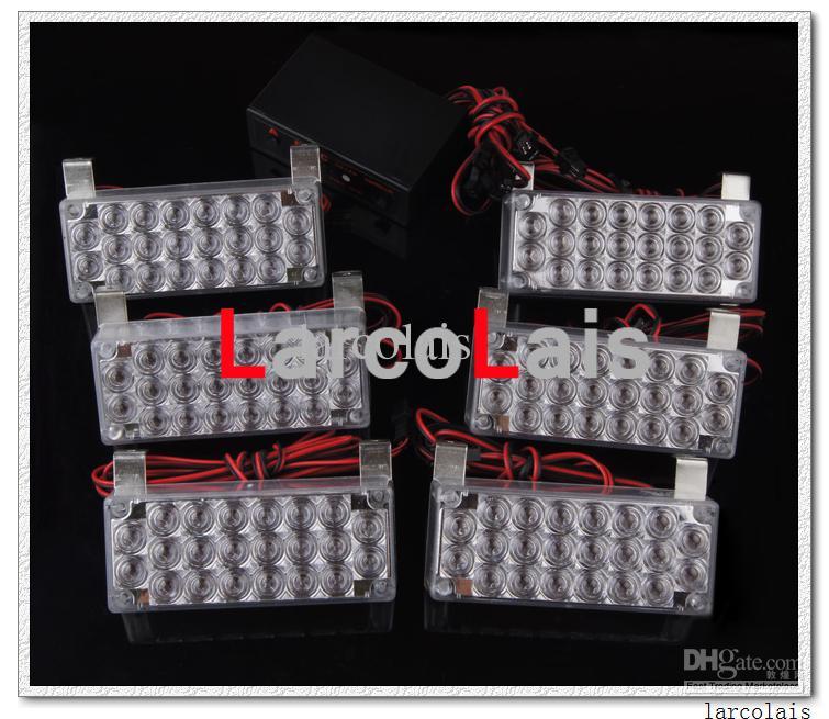 Amber 6x22 LED Strobe Flash Warning EMS Car Truck Light Flashing Firemen Lights 6 x 22