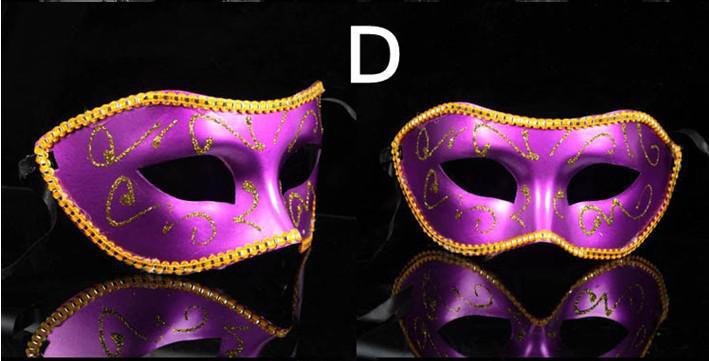Máscara clásica de la mascarada para fiestas y carnavales de la mascarada Actualización barata Máscara veneciana anónima