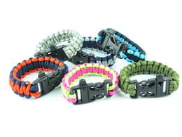 $enCountryForm.capitalKeyWord Canada - 5pcs Lot Custom 550 Paracord Parachute Survival Bracelets Hand Made With Whistle Military 7-core Weave Bracelet