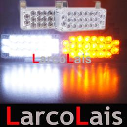 Blanc Ambre 2x22 LED Flash Stroboscopique Avertissement EMS Voiture Camion Lumière Clignotant Pompier Lumières 2 x 22 LLSL ? partir de fabricateur
