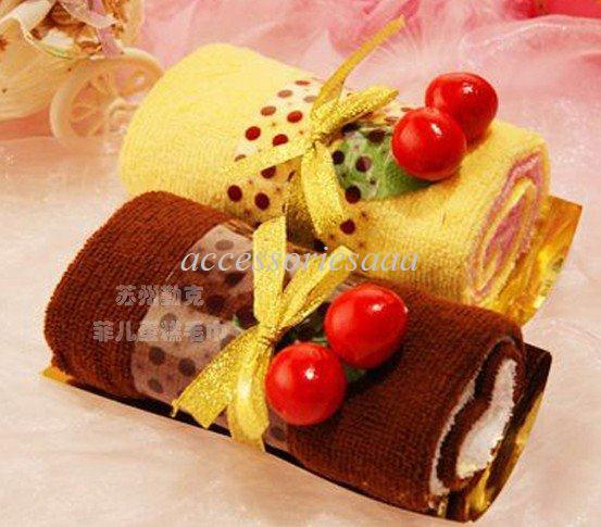 Wholesale Swiss Roll Cake Towel Creative GiftsWedding Birthday