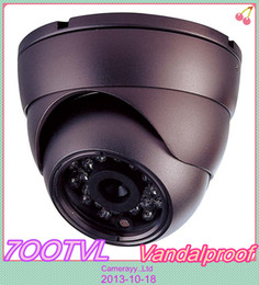 Wholesale Effio P Dome - Free DHL or EMS CCTV Security 700TVL Sony Effio day and night infrared IR dome vandalpfoof CCD Camera with wide angle lens