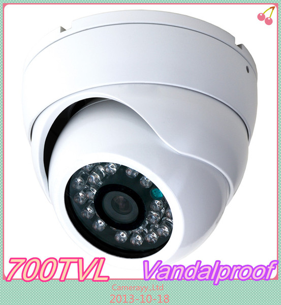 Free DHL or EMS CCTV Security 480TVL Sony day and night infrared IR dome vandalpfoof CCD Camera with wide angle lens