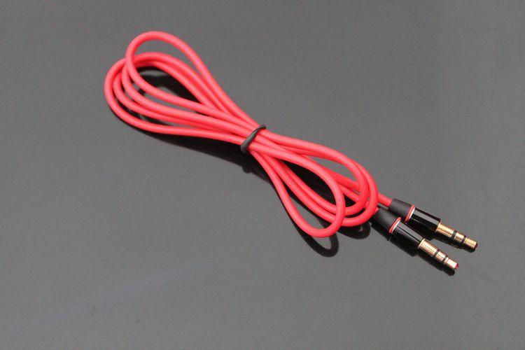 1.2m赤い男性3.5mm AuxオーディオケーブルのためのStudio Soloイヤホン電話のためのDHL 100+