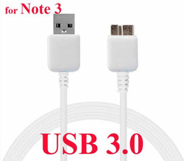 Wholesale Data Cable For Mobile - For samsung Galaxy note 3 mobile N9000 N9006 S5 I9600 USB 3.0 data cable charger cable high quality white 100pcs,200pcs