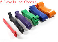 Wholesale Looped Resistance Bands - 6 Levels Available Pull Up Assist Bands Crossfit Exercise Body Fitness Resistance Loop Band