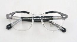 Drop ship lunettes cadre sz: L M S. Couleur noir et blanc dans un cadre de lunettes de couleur un, demi noir et demi transparent, freeshipping. en Solde