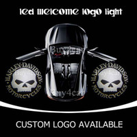 Wholesale Lights For Honda - Willie G Skull Car Door Welcome Ghost Shadow Laser LED Light Car Door Courtesy Light For HARLEY DAVIDSON For Dodge VW CHEVROLET Honda 1894