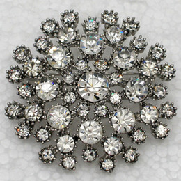 $enCountryForm.capitalKeyWord Canada - Wholesale C815 Crystal Rhinestone Flower Brooches Bridesmaid Wedding Party prom Bridal Brooch Pin Fashion Costume jewelry gift C815