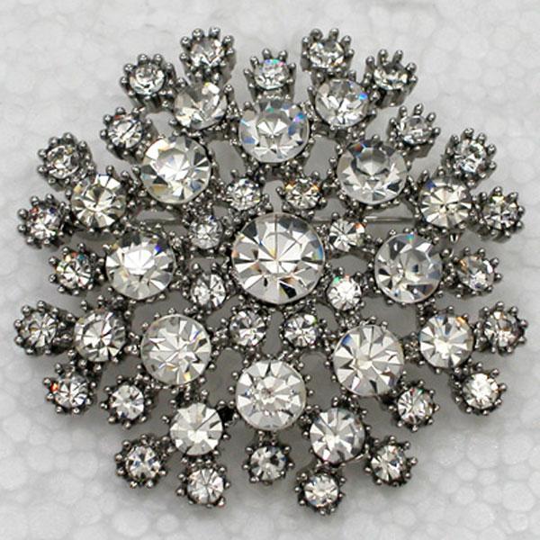 Comercio al por mayor C815 Crystal Rhinestone Flor Broches de Dama de honor del Banquete de Boda nupcial Broche Pasador de Moda regalo de la joyería C815