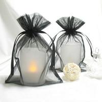"Wholesale Gold Sheer Organza Bag - 100pcs Black 10cm*15cm (4""x6"") Sheer Organza bag Wedding Favor Gift Bag,Organza Pouches-Free Shipping"