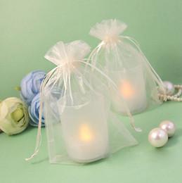 "Wholesale Brown Organza Gift Bag - 100pcs Ivory 10cm*15cm (4""x6"") Sheer Organza bag Wedding Favor Gift Bag,Organza Pouches-Free Shipping"
