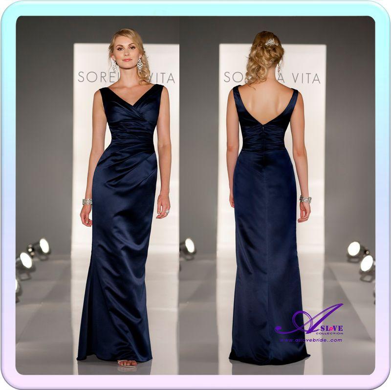 Navy Floor Length Dresses