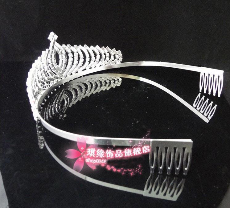 Venta al por mayor - 2013 en stock Coronas Royalias Cristales brillantes Muestra real Boda nupcial Tiara Tiaras Accesorios para el cabello