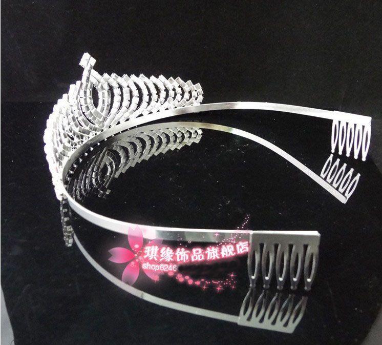 Wholesale - 2013 In Stock Royal Crowns Shiny Crystals Real Sample Bridal Wedding Tiara Tiaras Hair Accessories