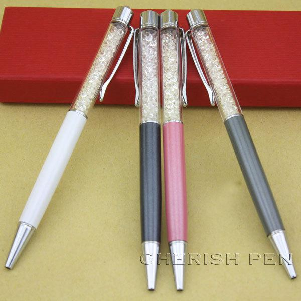 Wholesale 4pcs/set Hot Sale Color Diamond swaroski Crystal pens Rollerball/Roller Ball/Ballpoint Pen For Lady Gift Free Shippin