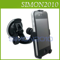 Wholesale Good Windows Phone - Good quality CAR PHONE HOLDER STAND CHARGER WINDOW SUCTION MOUNT CHARGING FOR iPHONE 4S 4G With retail package black color