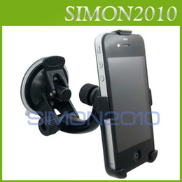 Wholesale Phone Holder Window Suction - Good quality CAR PHONE HOLDER STAND CHARGER WINDOW SUCTION MOUNT CHARGING FOR iPHONE 4S 4G With retail package black color