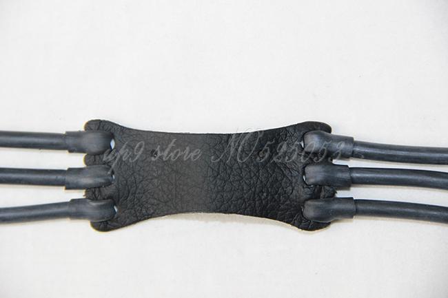 3 unids / lote 6 tiras de goma tubo de látex negro goma banda ELASTICA Bungee para Slingshot reemplazo de caza al aire libre