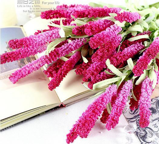 "47cm/18.5"" Length Europe Garden Artificial Flowers Simulation Lavender Foam Flower Heads Floral Accessories"