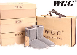 Wholesale Snow Boots Wgg - Hot Sale High Quality WGG Women Mid Snow Boots Genuine Leather Winter Boots Women's Snow Boots US5--10 Free Shipping