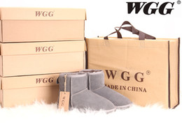 Wholesale Boots Sale Australia - Hot Sale High Quality Classic WGG Brand Women popular Australia Genuine Leather Boots Low Women's Snow Boots US5--10 Free Shipping