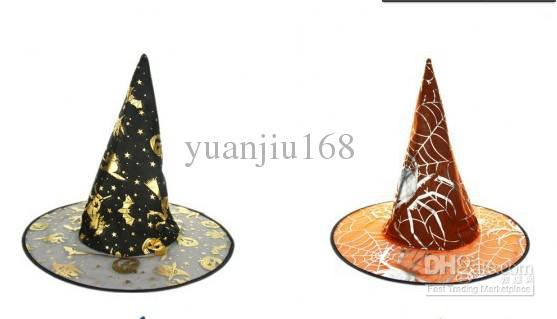 - Free shipping-Halloween Costumes Halloween Party Props Cool Witches Wizard Hats Various Color Hot Sale