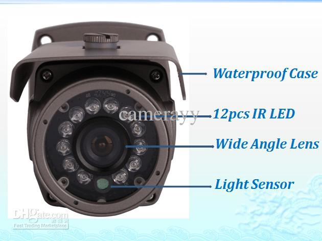 Free DHL or EMS Security CCTV Sony 480TVL day and night infrared weatherproof IR CCD Camera with wide angle lens