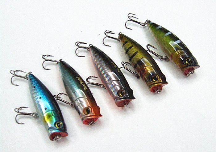 10g 6.5cm Fishing lure Poper Bait Fishing tackle Hard Plastic False Bait Floating type China hook